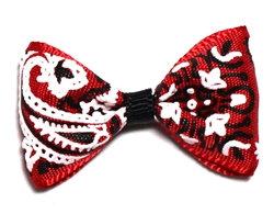 Red Bandana Dog Hair Bow