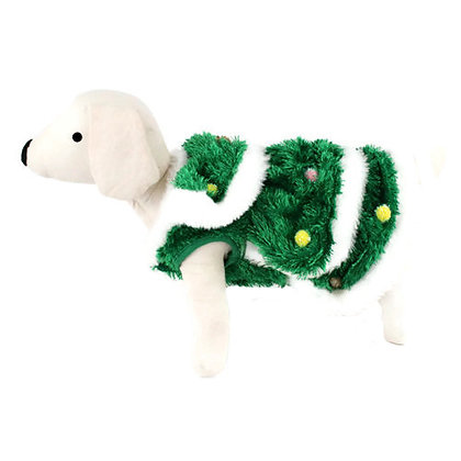 Christmas Tree Dog Costume Green & White
