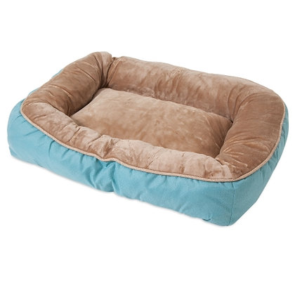 SnooZZy Rustic Low Bumper Dog Bed Teal