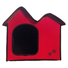 Dog's Life™ Double Roof Pet House Red