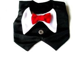 Black Tuxedo Dog Vest