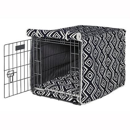 Azure Micro Velvet Dog Crate Cover