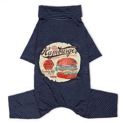 Lightweight Onesie Dog Pajamas Navy