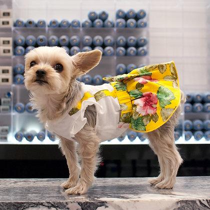 Floral Suspender Dog Dress