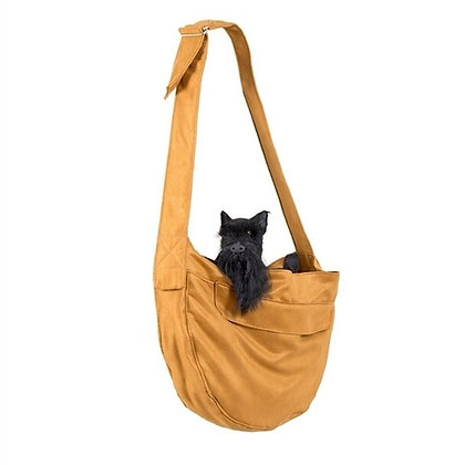 Bronze Luxe Suede Dog Sling Carrier