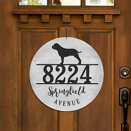Personalized Dog Breed Address Sign