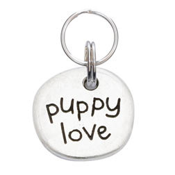 Heart and Puppy Love Doodle Dog Collar Charm
