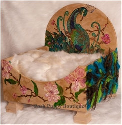 Luxury Peacock Dog Bed