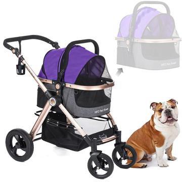Pet Rover Prime 3-in-1 Dog Stroller Purple