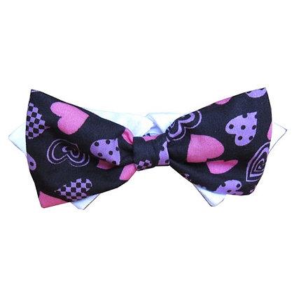 Purple Heart Dog Bow Tie Dog Collar
