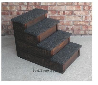 "24"" Custom Wooden Pet Stairs"