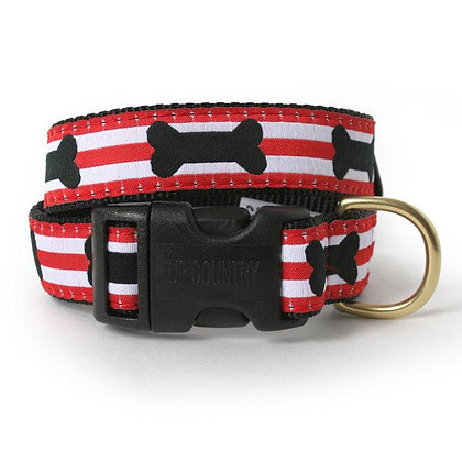 Got Bones Striped Dog Collar