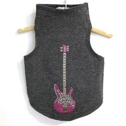 Studded Guitar Dog Tank Dark Heather Grey
