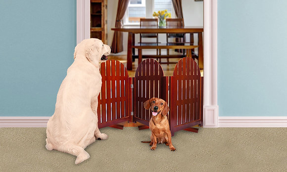 Home Gate Pet Barrier Pecan
