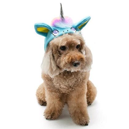 Unicorn Dog Hat Blue