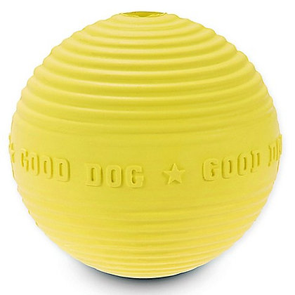 Harry Barker Croquet Rubber Dog Ball Yellow