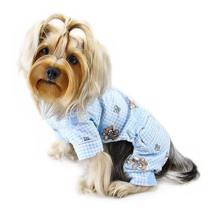Adorable Teddy Bear Love Flannel Dog Pajamas