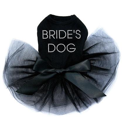 Bride's Dog Rhinestone Tutu Dog Dress
