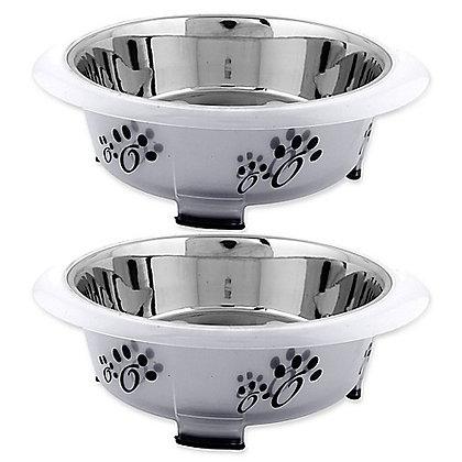 Iconic Pet Oval Fusion Pet Bowl Set