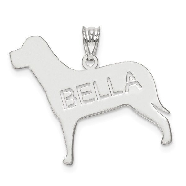 Dog Name Pendant