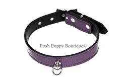 Purple Glitter Collar