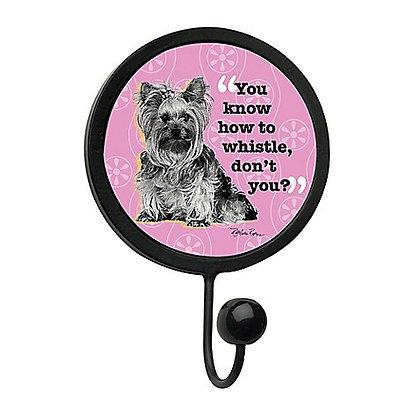 Dog Leash Hook Black and Pink