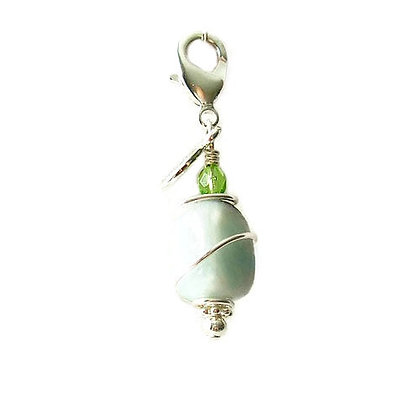 Amazonite Healing Dog Collar Charm