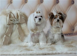 Luxurious Faux Mink Dog Blanket Champagne