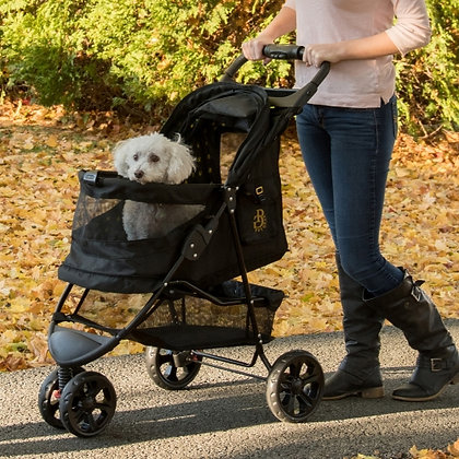 Limited Edition No-Zip Dog Stroller Gold Monogram
