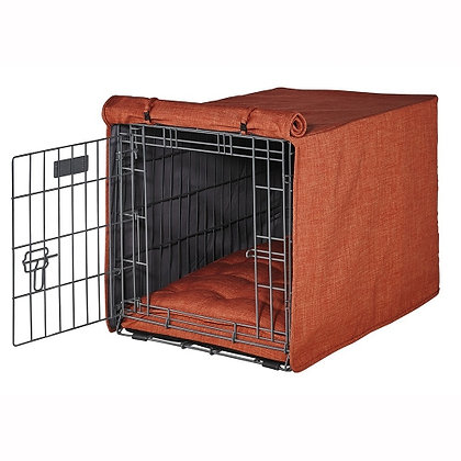 Tuscan Mircrolinen Dog Crate Cover
