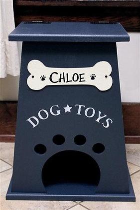 Personalized Dog Toy Box Navy