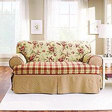 Sure Fit Lexington T-Cushion Loveseat Protector