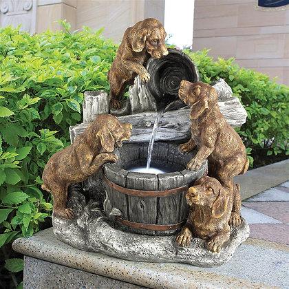 Puppy Dog Pail Garden Fountain