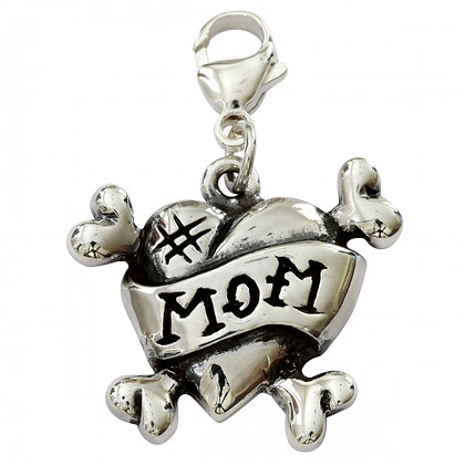 #Mom Sterling Silver Dog Collar Charm