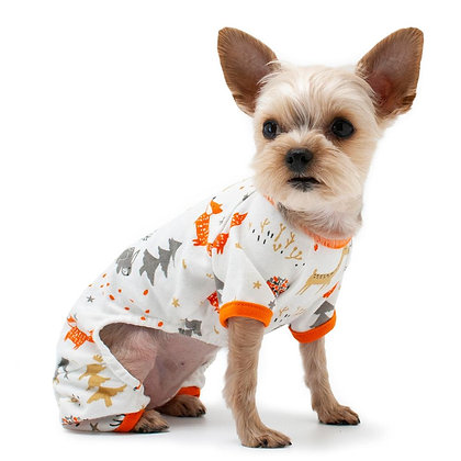 Dog Pajamas Winter Forest