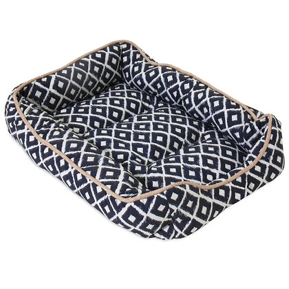 SnooZZy IKAT Navy Drawer Dog Bed