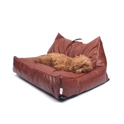 Leather Dog Lounger