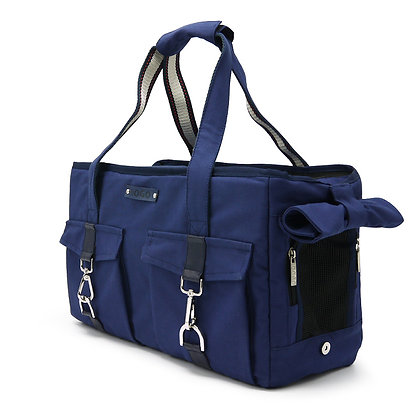 Canvas Buckle Tote Dog Carrier Navy