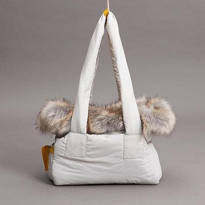 Viva Bag Fur and Velvet Dog Carrier Grey