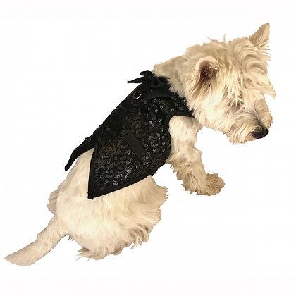 The Gentleman's Dog Tuxedo Black Sequins