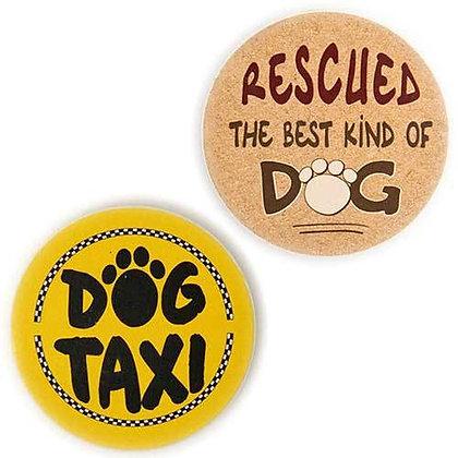 Dog Speak Stone Car & Boat Coasters