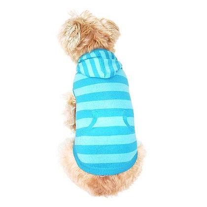 Striped Kangaroo Dog Hoodie Turqouise