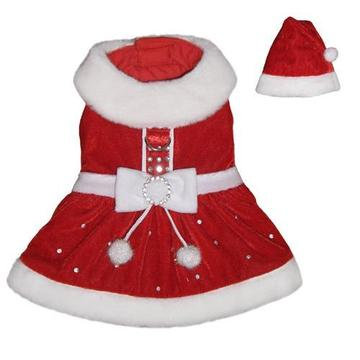 Santa Paws Dog Dress With Hat