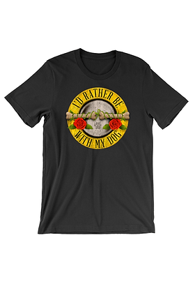 Bones and Roses Tee Shirt for dog lovers