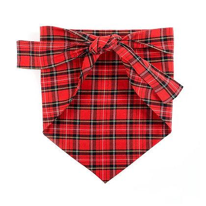 Dog Bandana Red Plaid