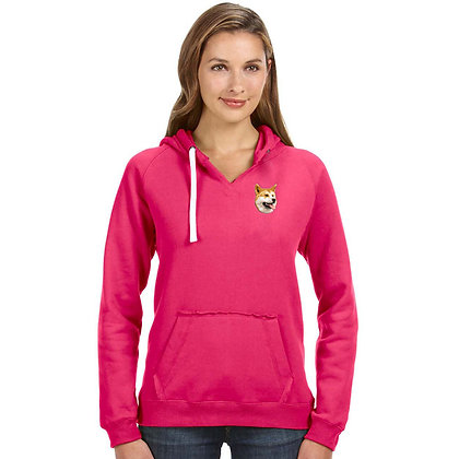 BirdDawg Embroidered Ladies Pullover Hoodie Pink