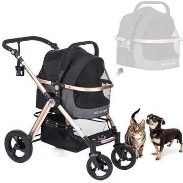 Pet Rover Prime 3-in-1 Dog Stroller Black