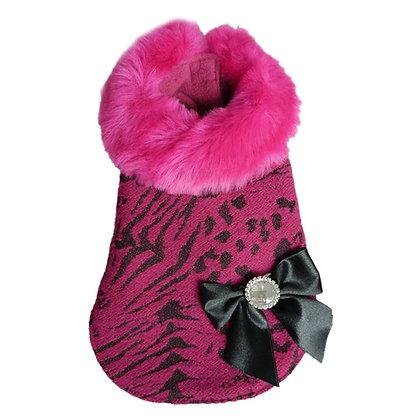 Bella Faux Fur Dog Coat