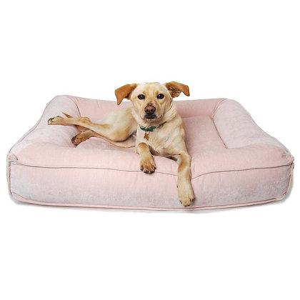 Blush Pink Microvelvet Divine Futon Dog Bed