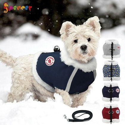 Windproof Fleece Dog Jacket Vest